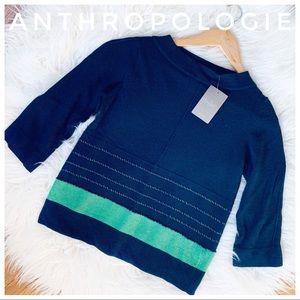 ANTHROPOLOGIE field flower sweater in navy